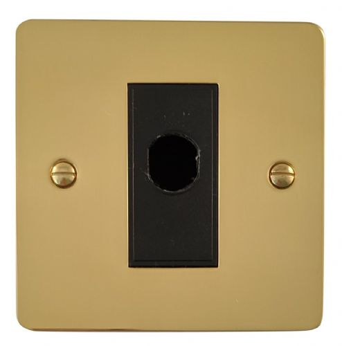 G&H FB79B Flat Plate Polished Brass 1 Gang Flex Outlet Plate
